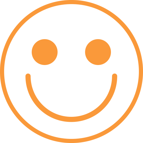 Visual of a great big smiley face