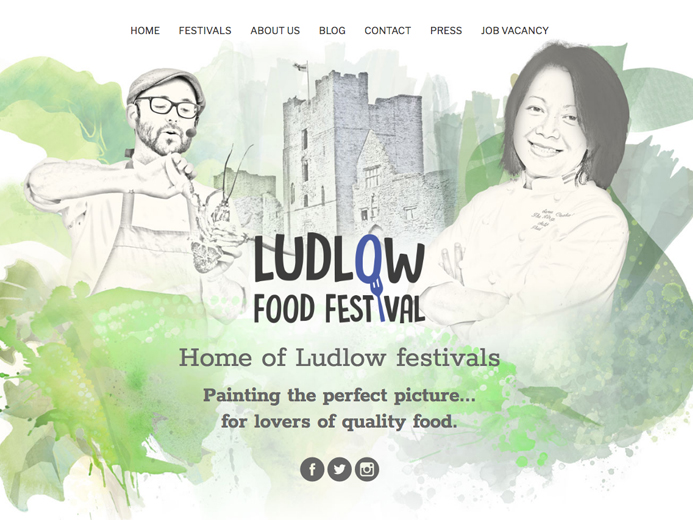 Image of a festival event website managed by the visual works