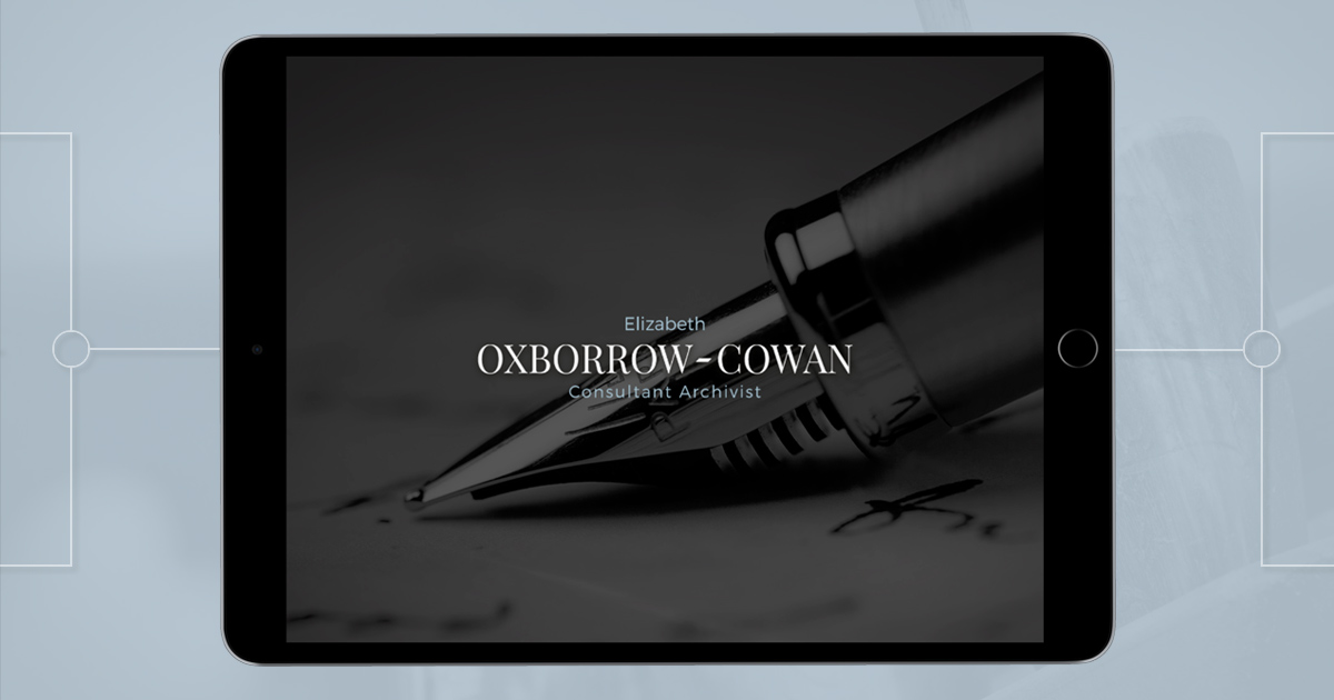 Uniquely designed Oxborrow-Cowan website homepage