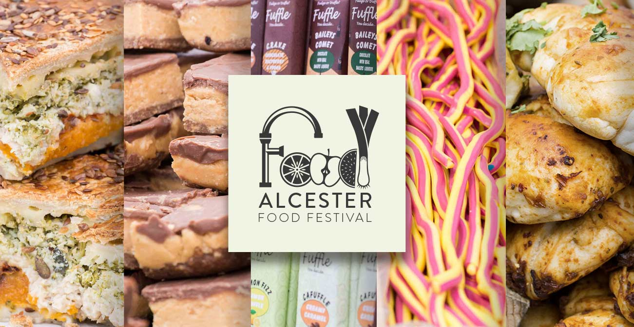 Alcester Food Festival Logo and Brand Identity