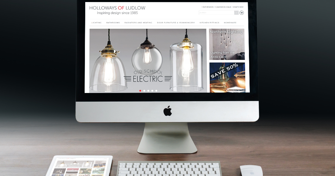The ecommerce website has a light and clean design that displays the products well