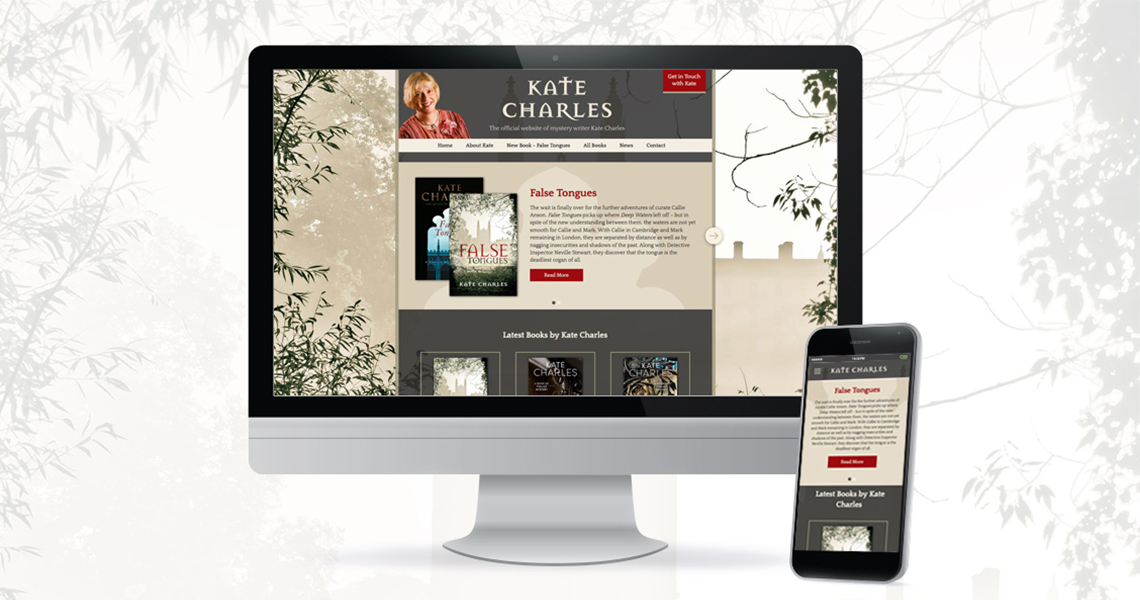 An example of The Visual Works graphic design and website work